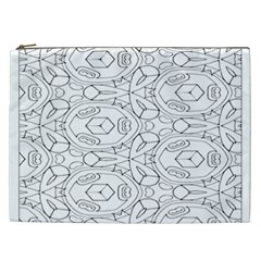 Pattern Silly Coloring Page Cool Cosmetic Bag (xxl)