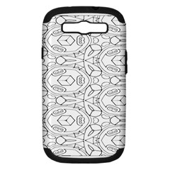 Pattern Silly Coloring Page Cool Samsung Galaxy S Iii Hardshell Case (pc+silicone)