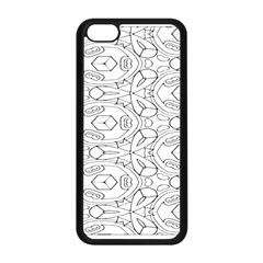 Pattern Silly Coloring Page Cool Apple Iphone 5c Seamless Case (black)