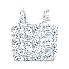 Pattern Silly Coloring Page Cool Full Print Recycle Bags (m)
