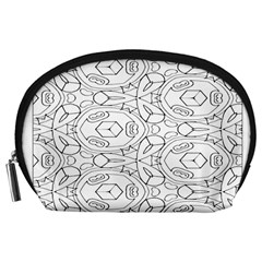 Pattern Silly Coloring Page Cool Accessory Pouches (large)