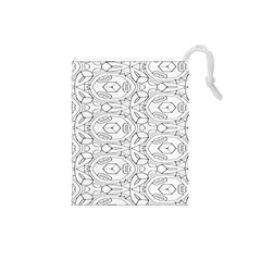 Pattern Silly Coloring Page Cool Drawstring Pouches (small)