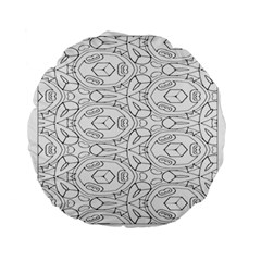 Pattern Silly Coloring Page Cool Standard 15  Premium Flano Round Cushions