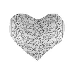 Pattern Silly Coloring Page Cool Standard 16  Premium Flano Heart Shape Cushions