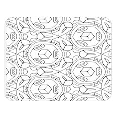 Pattern Silly Coloring Page Cool Double Sided Flano Blanket (large)