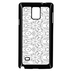 Pattern Silly Coloring Page Cool Samsung Galaxy Note 4 Case (black)