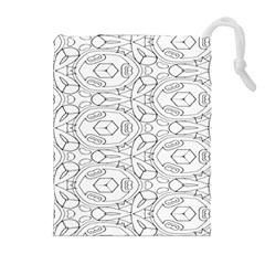 Pattern Silly Coloring Page Cool Drawstring Pouches (extra Large)