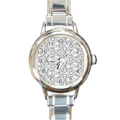 Pattern Silly Coloring Page Cool Round Italian Charm Watch