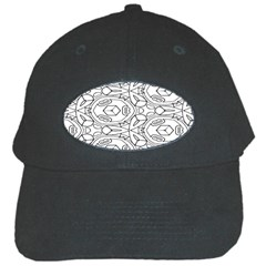 Pattern Silly Coloring Page Cool Black Cap