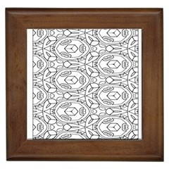 Pattern Silly Coloring Page Cool Framed Tiles