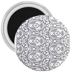 Pattern Silly Coloring Page Cool 3  Magnets