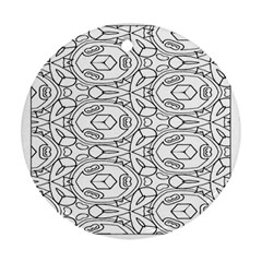 Pattern Silly Coloring Page Cool Ornament (round)
