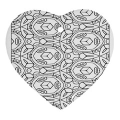 Pattern Silly Coloring Page Cool Ornament (heart)