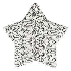 Pattern Silly Coloring Page Cool Ornament (star)