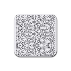 Pattern Silly Coloring Page Cool Rubber Square Coaster (4 Pack)