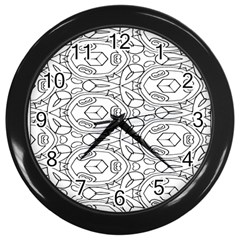 Pattern Silly Coloring Page Cool Wall Clocks (black)