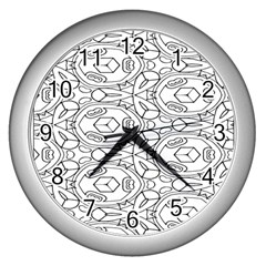 Pattern Silly Coloring Page Cool Wall Clocks (silver)