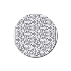 Pattern Silly Coloring Page Cool Rubber Round Coaster (4 Pack)