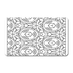 Pattern Silly Coloring Page Cool Magnet (rectangular)