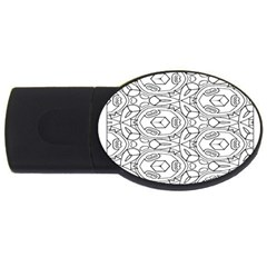 Pattern Silly Coloring Page Cool Usb Flash Drive Oval (2 Gb)