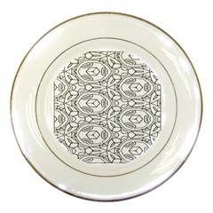 Pattern Silly Coloring Page Cool Porcelain Plates