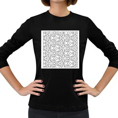 Pattern Silly Coloring Page Cool Women s Long Sleeve Dark T Shirts