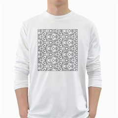 Pattern Silly Coloring Page Cool White Long Sleeve T-Shirts