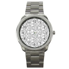 Pattern Silly Coloring Page Cool Sport Metal Watch