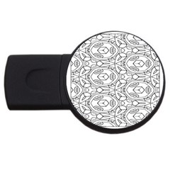 Pattern Silly Coloring Page Cool USB Flash Drive Round (4 GB)