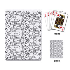 Pattern Silly Coloring Page Cool Playing Card