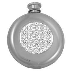 Pattern Silly Coloring Page Cool Round Hip Flask (5 oz)