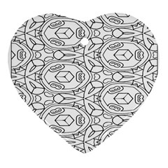 Pattern Silly Coloring Page Cool Heart Ornament (two Sides)