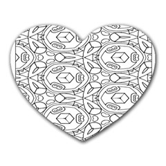 Pattern Silly Coloring Page Cool Heart Mousepads