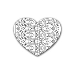 Pattern Silly Coloring Page Cool Heart Coaster (4 Pack)