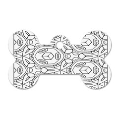 Pattern Silly Coloring Page Cool Dog Tag Bone (one Side)