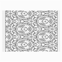 Pattern Silly Coloring Page Cool Large Glasses Cloth (2 Side)