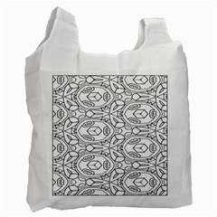 Pattern Silly Coloring Page Cool Recycle Bag (two Side)