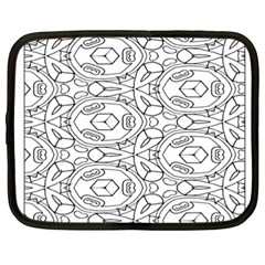 Pattern Silly Coloring Page Cool Netbook Case (xxl)