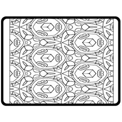 Pattern Silly Coloring Page Cool Fleece Blanket (large)