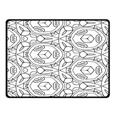 Pattern Silly Coloring Page Cool Fleece Blanket (small)