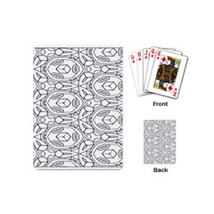 Pattern Silly Coloring Page Cool Playing Cards (mini)