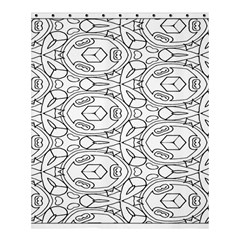 Pattern Silly Coloring Page Cool Shower Curtain 60  X 72  (medium)