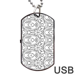 Pattern Silly Coloring Page Cool Dog Tag Usb Flash (one Side)
