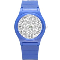 Pattern Silly Coloring Page Cool Round Plastic Sport Watch (s)