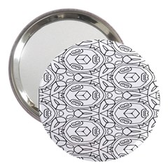 Pattern Silly Coloring Page Cool 3  Handbag Mirrors