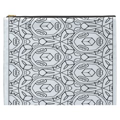 Pattern Silly Coloring Page Cool Cosmetic Bag (xxxl)