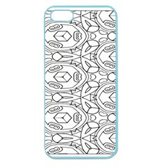 Pattern Silly Coloring Page Cool Apple Seamless Iphone 5 Case (color)