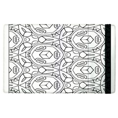Pattern Silly Coloring Page Cool Apple Ipad 3/4 Flip Case