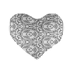 Pattern Silly Coloring Page Cool Standard 16  Premium Heart Shape Cushions