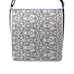 Pattern Silly Coloring Page Cool Flap Messenger Bag (l)